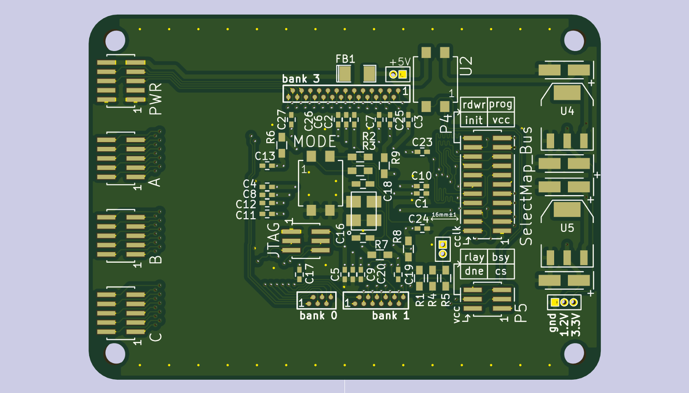 FLRe project, KiCAD rendering