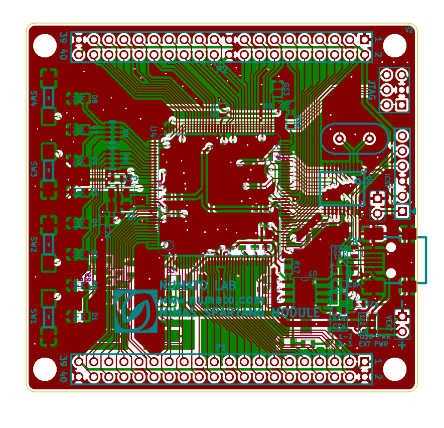 Kicad and spartan 6 lx9 tqg144 for Spartan 6 architecture